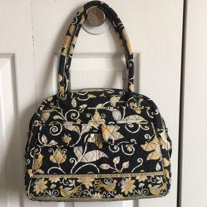 Vera Bradley Yellow Bird Bowler Bag Cosmetic Bag